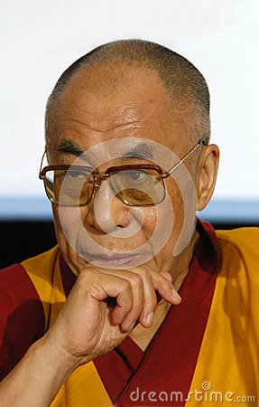 His Holiness Dalai Lama Editorial Image