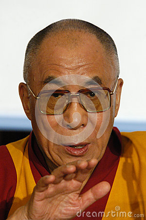 His Holiness Dalai Lama Editorial Stock Image