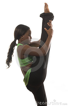 hispanic african american woman exercising dance