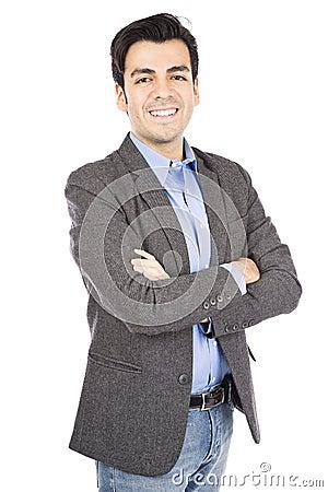 Free Hispanic Business Man Stock Photography - 36672992