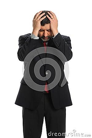 Hispanic Businessman Stressed