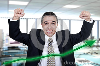 Hispanic businessman successfully