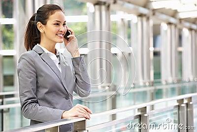 Hispanic Businesswoman Outside Office