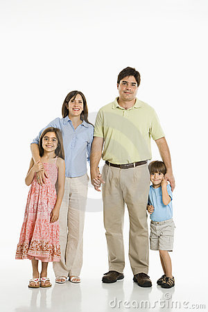 Hispanic family.