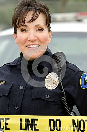 Smiling officer