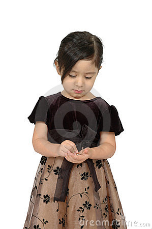 Hispanic girl counting money