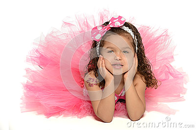 Hispanic Girl in Princess Costume