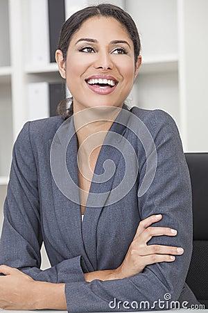 Free Hispanic Latina Woman Or Businesswoman Laughing Stock Image - 27303461