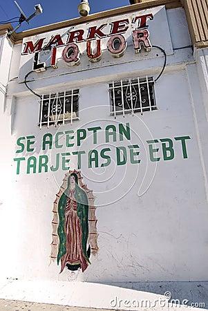 Hispanic Liquor Store Editorial Stock Image