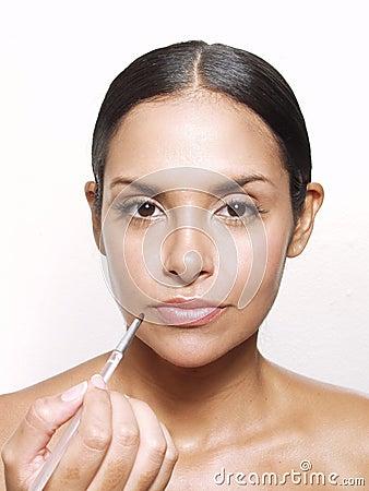 Hispanic makeup.