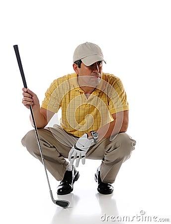 Hispanic mature golfer