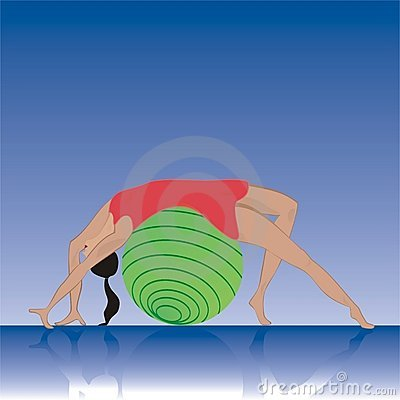 Hispanic pilates girl illustra