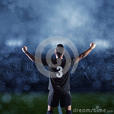 Free Hispanic Soccer Player Celebrating A Victory Royalty Free Stock Photos - 42088718