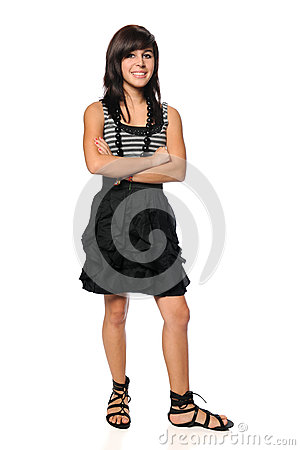 Hispanic Teen With Arms Crossed