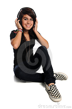 Hispanic Teen With Headphones