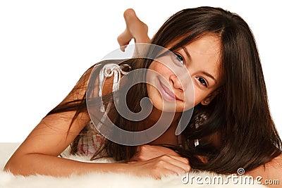 Hispanic teenager girl