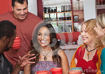 Hispanic Woman with Friends