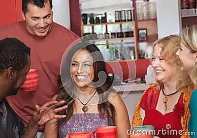 Hispanic Woman with Friends