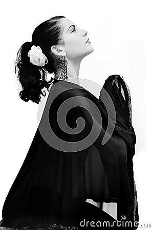 Free Hispanic Woman Praying Stock Image - 5484491