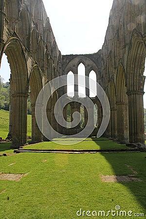 Historic abbey ruins