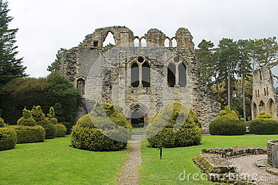 Historic abbey ruins