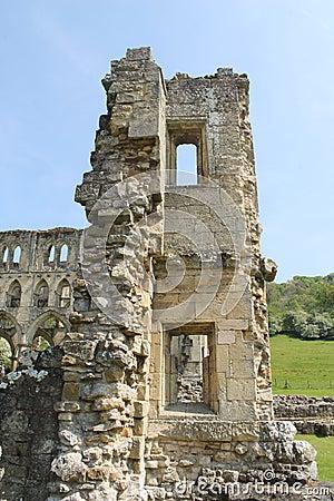 Historic abbey ruins wall