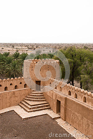 Free Historic Adobe Houses In Oman Stock Images - 34410354