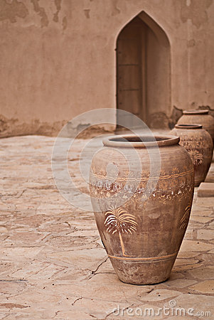 Free Historic Adobe Houses In Oman Stock Images - 34410364