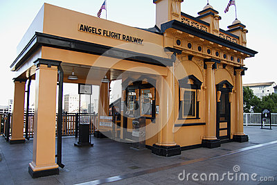Historic Angels Flight Railway in Los Angeles Editorial Photography