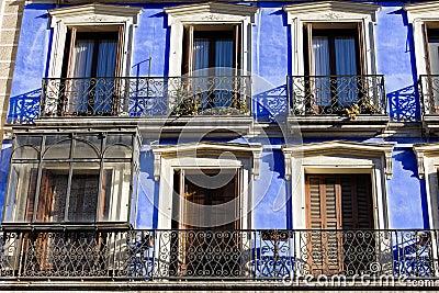 Historic Apartment Building Blue Facade