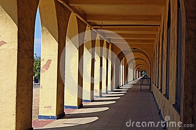 Historic arched walkway