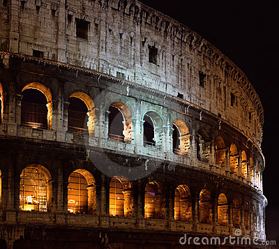 The historic arena Colosseo in Rome