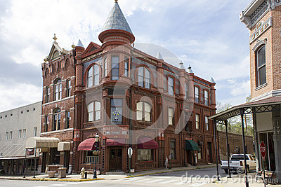 Historic Bank Building in Van Buren Arkansas Editorial Stock Image