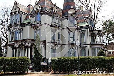 Historic Batcheller Mansion Inn,Saratoga,Ny,2014 Editorial Stock Photo