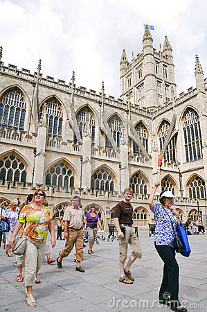 Historic Bath Abbey in Somerset England Editorial Stock Image