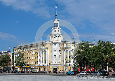 Historic building in the center of Voronezh Editorial Stock Image