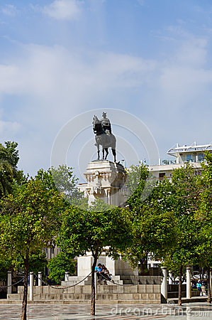 Free Historic Buildings And Monuments Of Seville, Spain. Architectural Details, Stone Facade. Stock Photo - 92482010