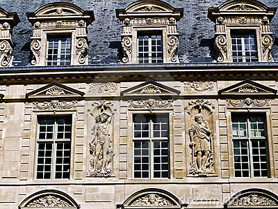 HIstoric buildings Paris Le Marais area