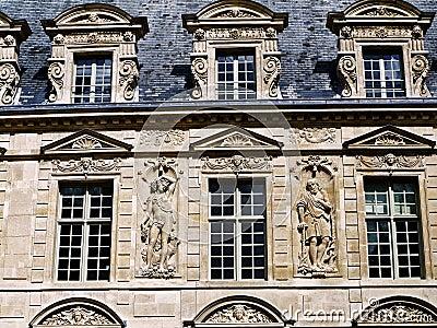HIstoric buildings Paris Le Marais area