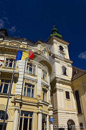 Historic buildings of Sibiu old town center