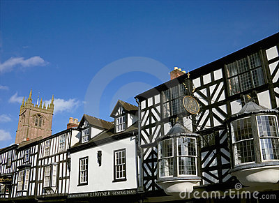 Historic Business Buildings, England Editorial Photo