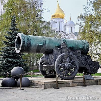 Historic cannon  at the Kremlin