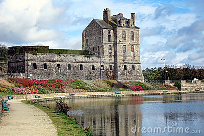 Historic Castle of Quintin in Brittany France