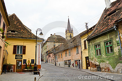Historic center of Sibiu Editorial Photography