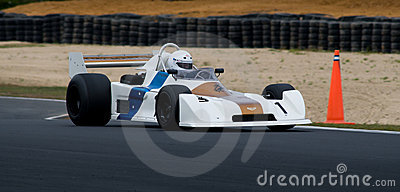 Historic Chevron F1 racing car at speed Editorial Stock Image