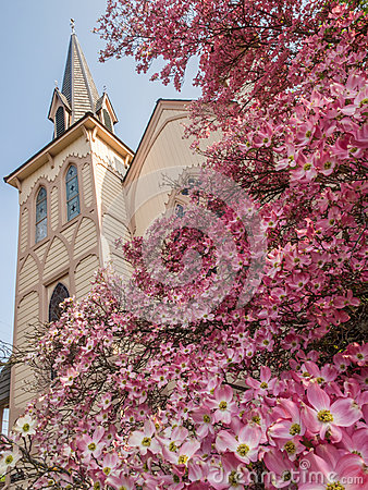 Free Historic Church In Spring Royalty Free Stock Photo - 55957145