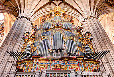 Historic church organ
