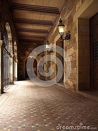 Free Historic Church Outdoor Hallway Royalty Free Stock Image - 5952896