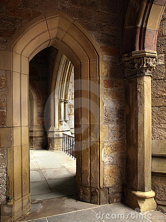 Historic Church pointed Arch Detail