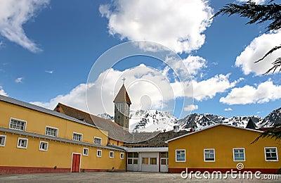 Historic church from Ushuaia.